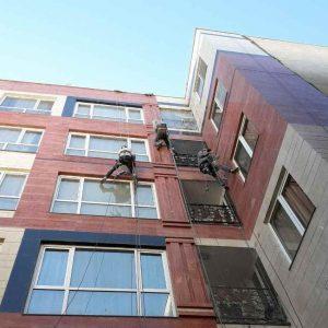 پیچ کردن سنگ نمای ساختمان در تهران