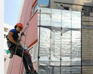 پیچ و رولپلاک سنگ نمای ساختمان در تهران